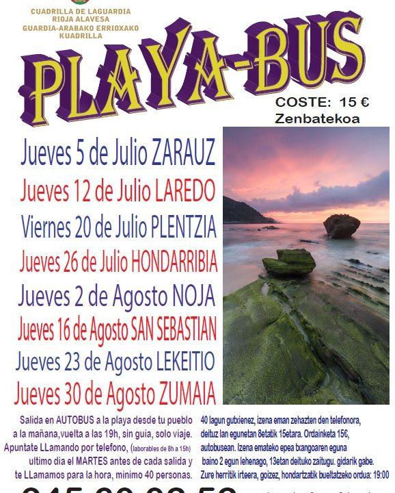 Playa Bus Verano 2018